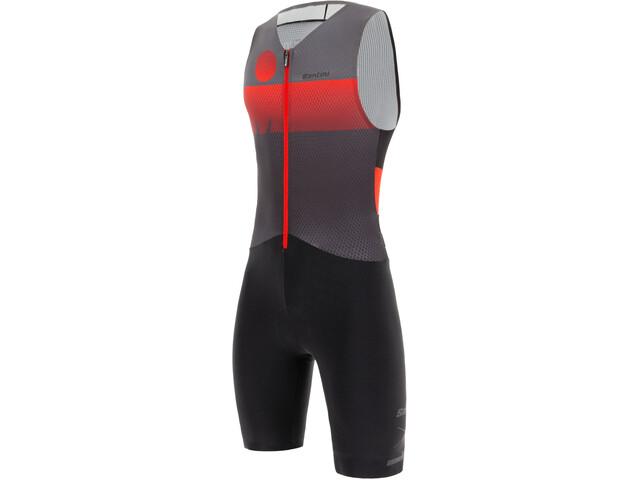 Santini Audax Aero Kombinezon triathlonowy bez rękawów Mężczyźni, red